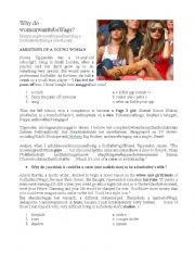 English Worksheet: Footballers� wives + Amy Winehouse song