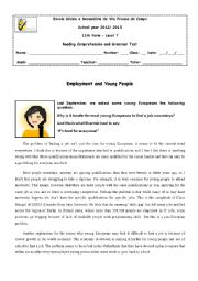 English Worksheet: 11th form test - The World of Work