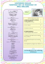 English Worksheet: Another Day in Paradise by Phil Collins Listening comprehension