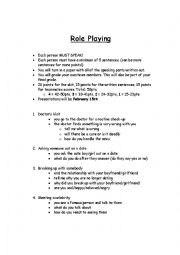English Worksheet: Role Playing