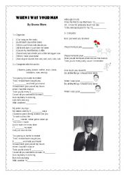 English Worksheet: When I was your man - Bruno Mars