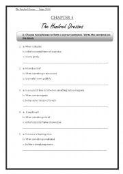 The Hundred Dresses Chapter 5 - ESL worksheet by teacherdong