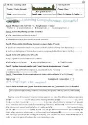 English Worksheet: Mid of term test n°3 2nd form