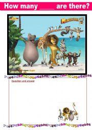 English Worksheet: Madagascar Movie Mania PART 3