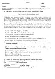 English Worksheet: Technical english exam
