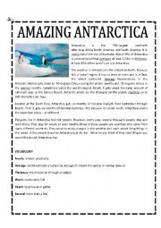Penguin Habitats Of Antarctica Worksheet, Science skills online ...
