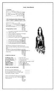 English Worksheet: Ironic - Alanis Morissette
