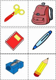 Memory Game (10 school objects)