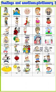 English Worksheet: Feelings and emotions1