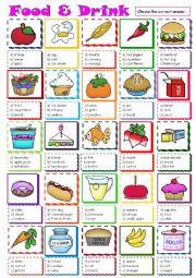 English Worksheet: Food & Drink