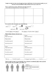 English Worksheet: A personal tour