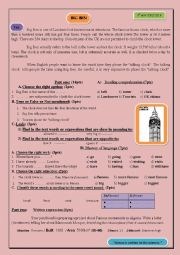 English Worksheet: Big Ben