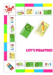 Board game: speaking, writing, vocabulary and grammar