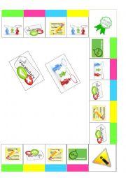 English Worksheet:  Board game: speaking, writing, vocabulary and grammar PART 2