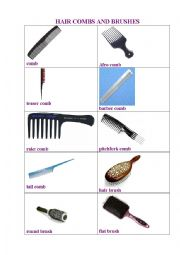 English Worksheet: Combs and Brushes