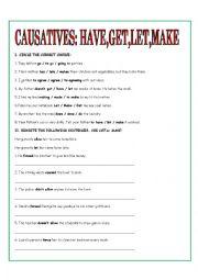 English Worksheet: CAUSATIVES