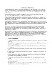 english worksheets a brief history of christmas. Black Bedroom Furniture Sets. Home Design Ideas