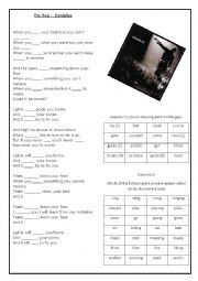 English Worksheet: Verbs Activity with Coldplay