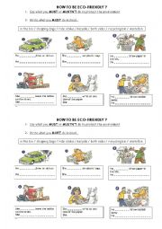 English Worksheet: GO GREEN ! BE ECO-FRIENDLY