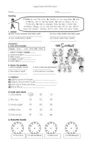English Worksheet: Happy Street 2 Units 1,2,3