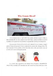 Reading comprehension about blood donation