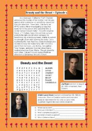 English Worksheet: Beauty and the Beast series