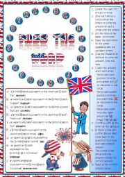 English Worksheet: Pass the word - American vs British English quiz