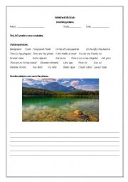 English Worksheet: Describing pictures