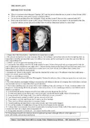 English Worksheet: The Iron Lady