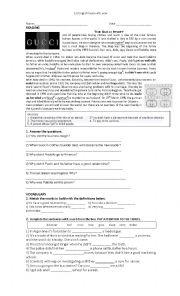 English Worksheet: New Headway Pre- Intermediate Unit 9-10
