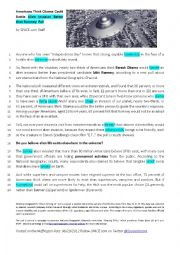 English Worksheet:  a poll about aliens