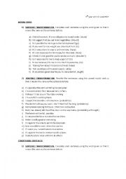 English Worksheet: Paraphrasing modals and conditionals