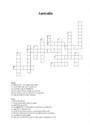 Australia crossword puzzle