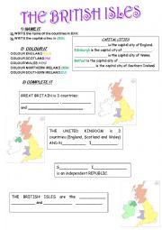 English Worksheet: British Isles Part 1