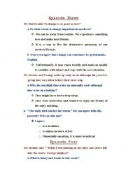 English Worksheet: story three men in a boat