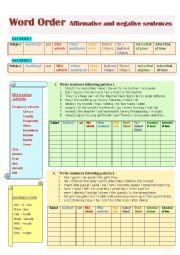 English Worksheet: Sentence word order