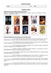 English Worksheet: Cinema
