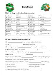 English Worksheet: Irish Slang