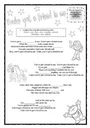 English Worksheet: You�ve got a friend in me - Toy Story