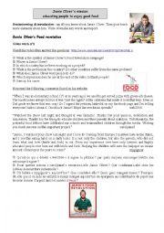 English Worksheet: Jamie Oliver�s food revolution campaign