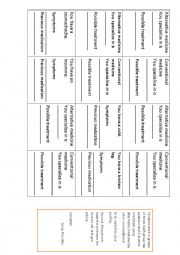 English Worksheet: conventional (traditional) vs alternative medicine role-play