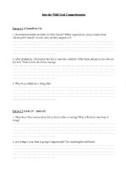 English Worksheet: Into the wild film worksheet