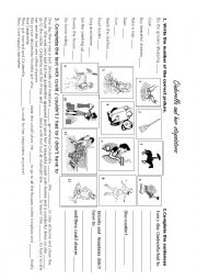 English Worksheet: Cinderella and her stepsisters