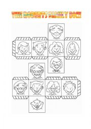 English Worksheet: Family Series Part 2 - The Roberts Family Dice