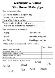 English Worksheet: Revolting rhymes