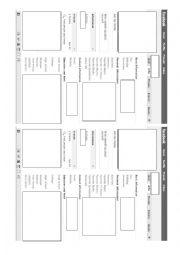 English Worksheet: facebook profile