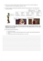 English Worksheet: Tangled (movie)
