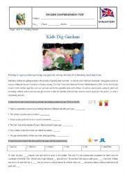 Test - Kids dig gardens