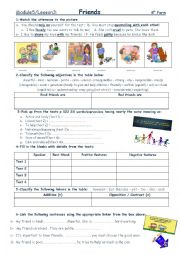 English Worksheet: FRIENDS MODULE 5 LESSON 2 8TH FORM