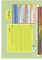 English Worksheet: Writing a personal letter